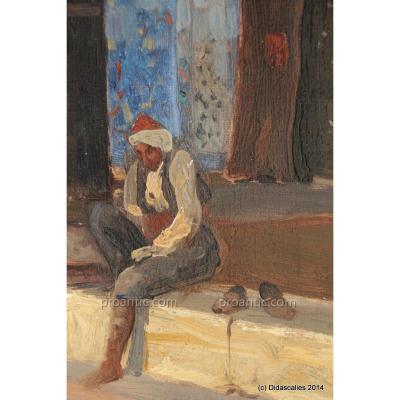 C. Fournier, La prière devant une mosquée d'Istanbul, 1910