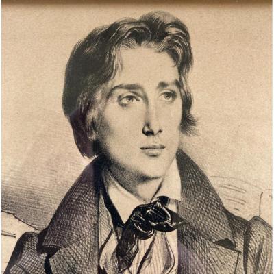 Achille Devéria, Portrait Of Franz Liszt