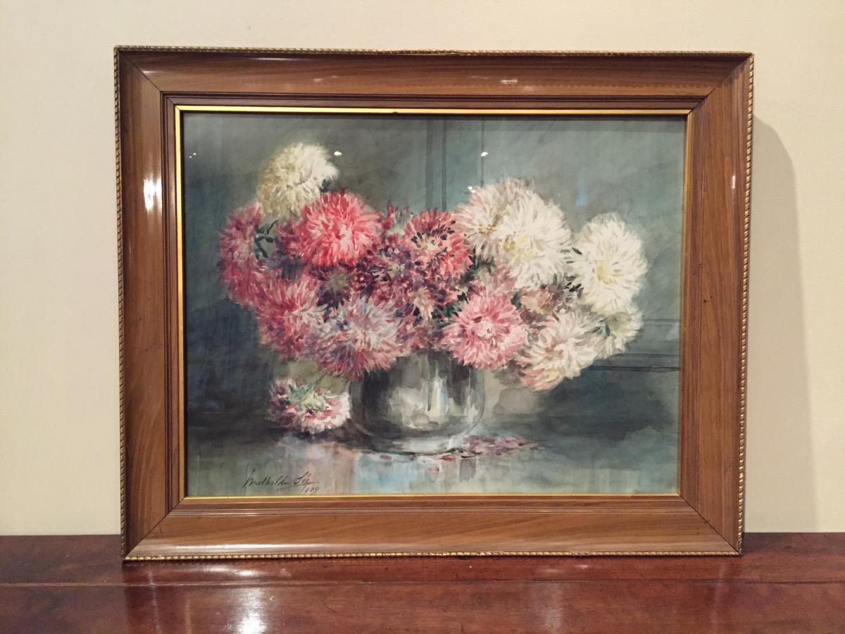 Bouquet De Dahlias Cactus Dentelle