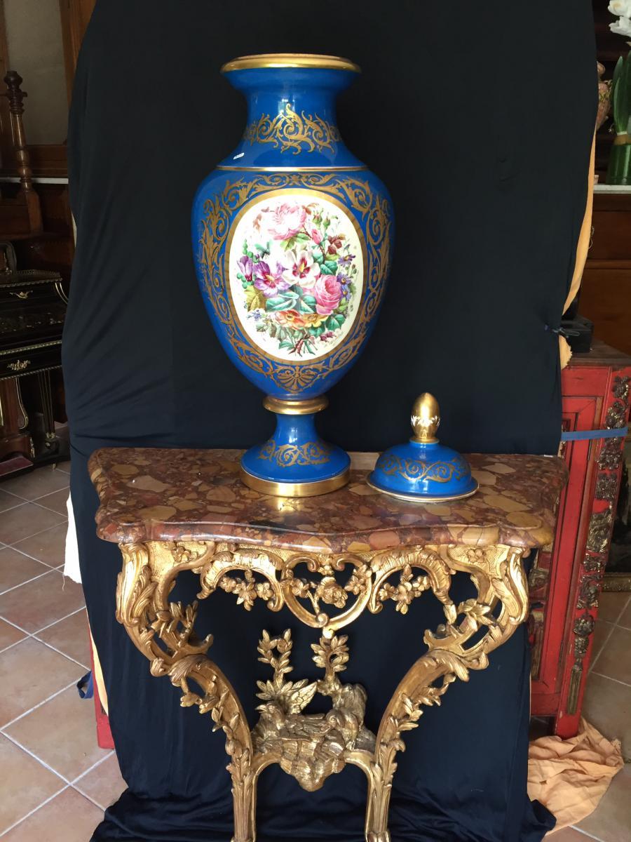 grand vase en porcelaine objets d coration vases en porcelaine. Black Bedroom Furniture Sets. Home Design Ideas