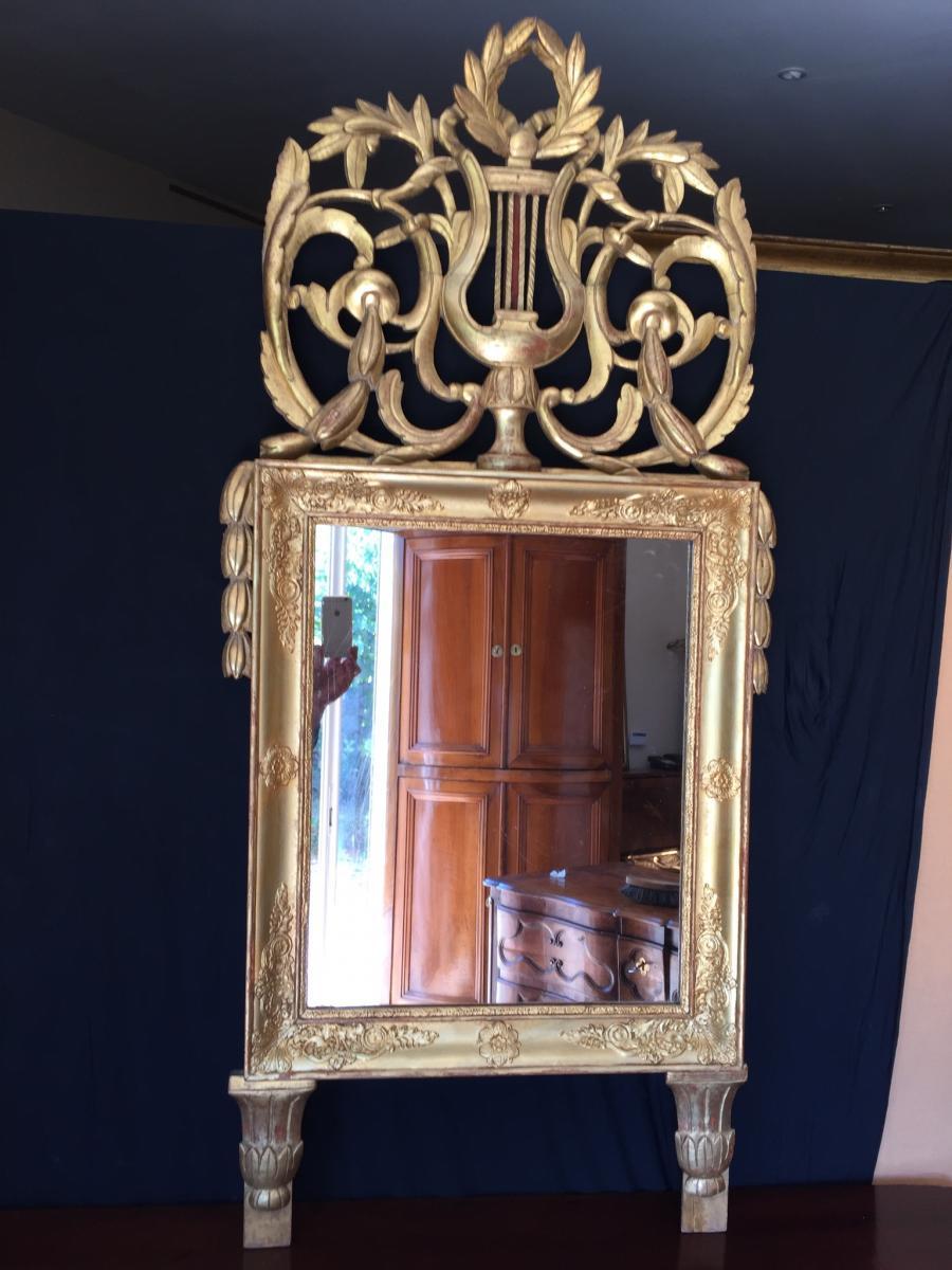 Miroir Provencal En Bois Dorè