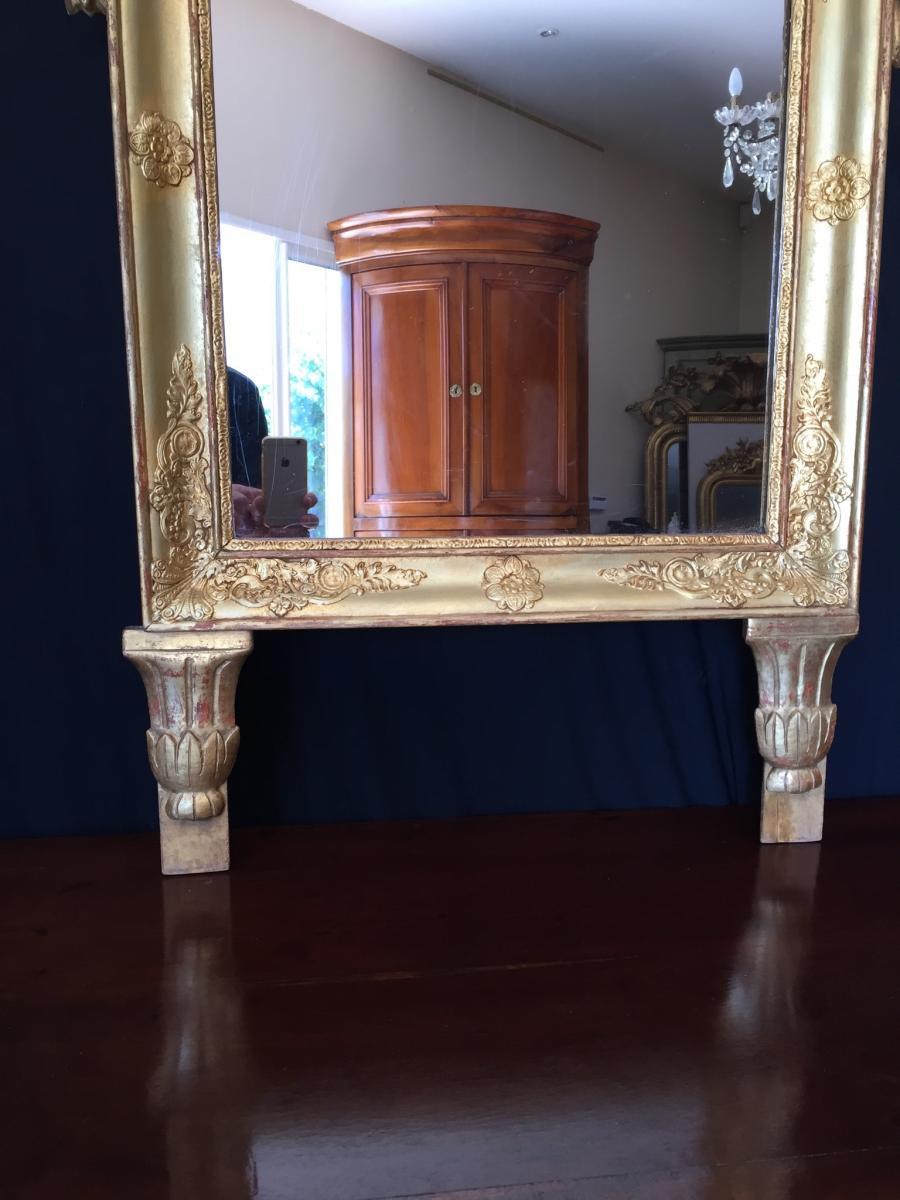Miroir Provencal En Bois Dorè -photo-3