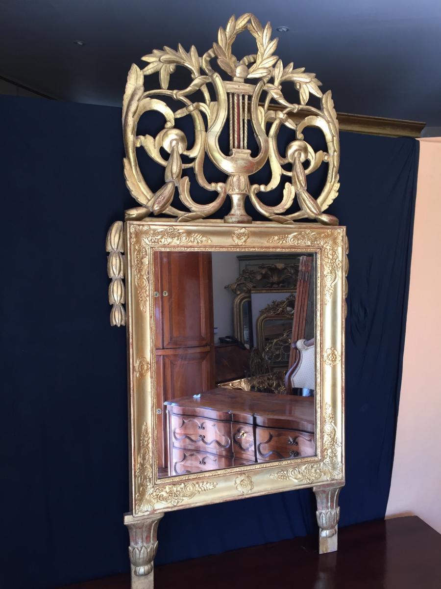 Miroir Provencal En Bois Dorè -photo-2