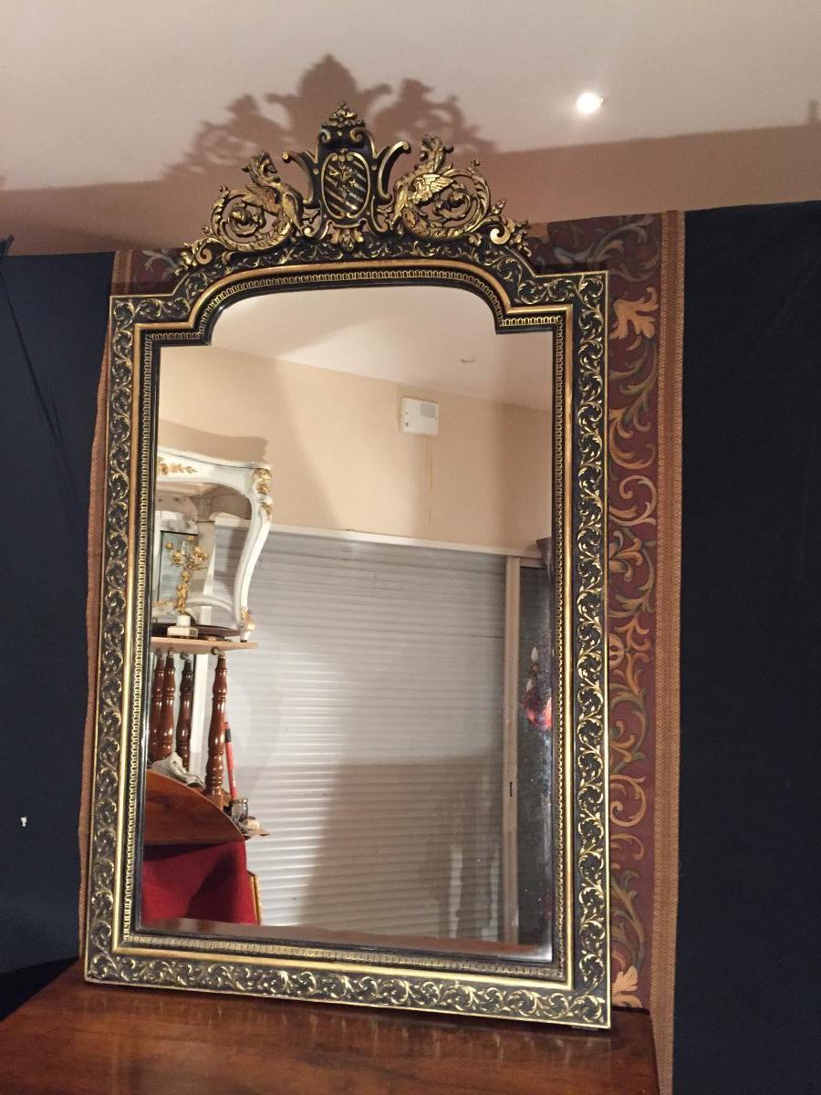 Grand Miroir Napoléon III aux Chimères