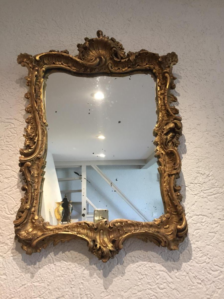 Petit Miroir Style Rocaille