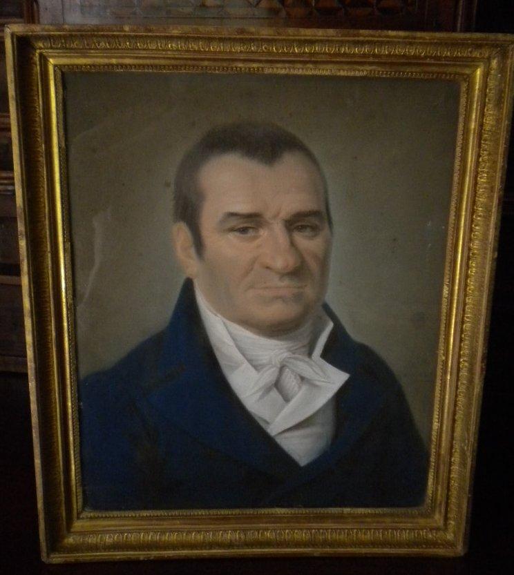 Pastel Portrait De Gentilhomme