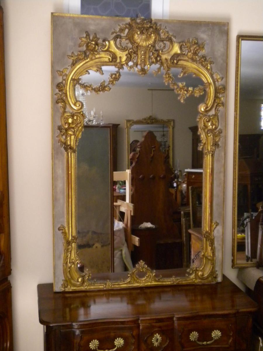 Miroir de boiserie de style louis xiv miroirs for Miroir louis xiv