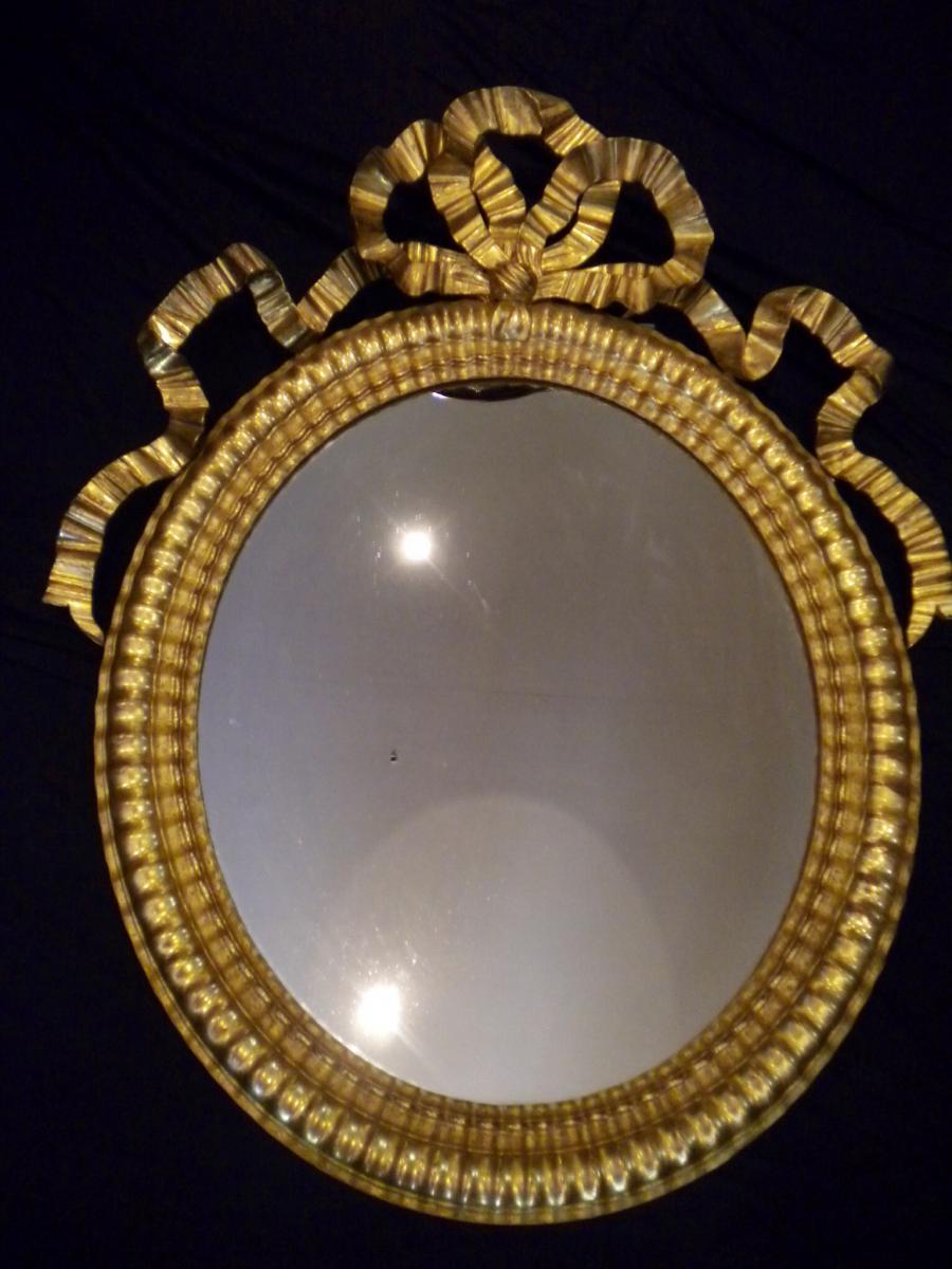 Miroir Medaillon 19eme