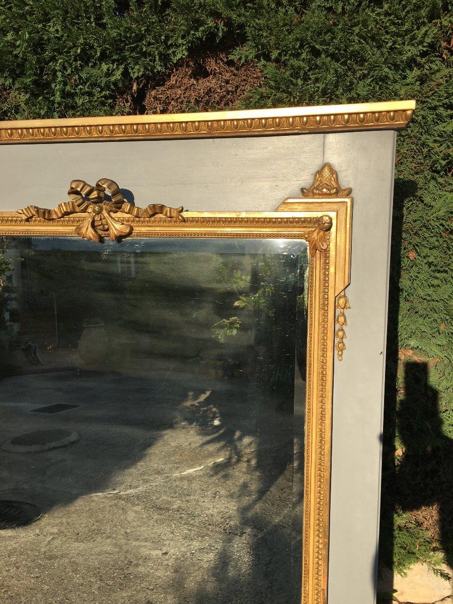 Trumeau De Style Louis XVl En Bois Doré -photo-3