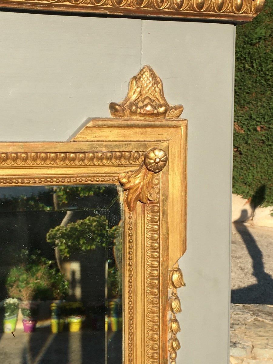 Trumeau De Style Louis XVl En Bois Doré -photo-4