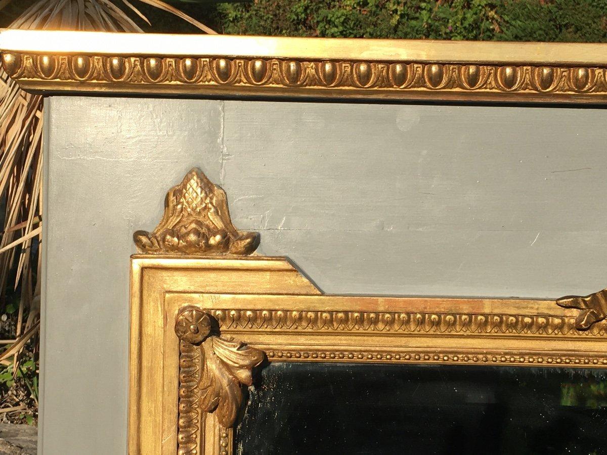 Trumeau De Style Louis XVl En Bois Doré -photo-2