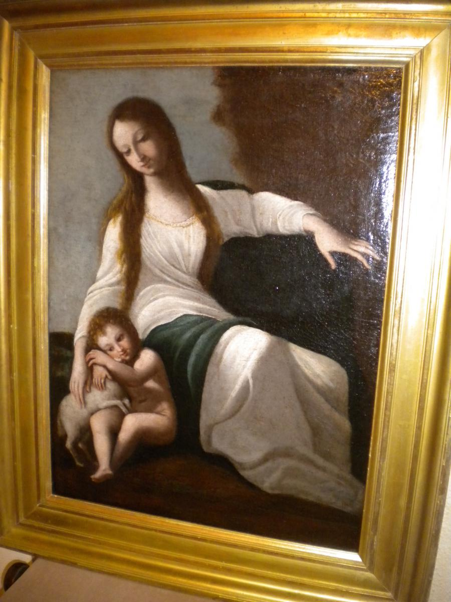 Young Woman And Her Son