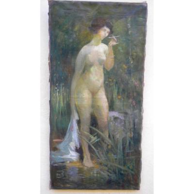 Nude In Bord De Riviere De Paul Frick