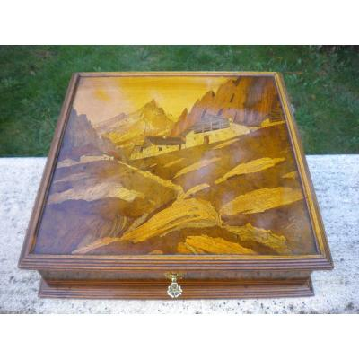 Box Marquetry Signed Emile Gallé