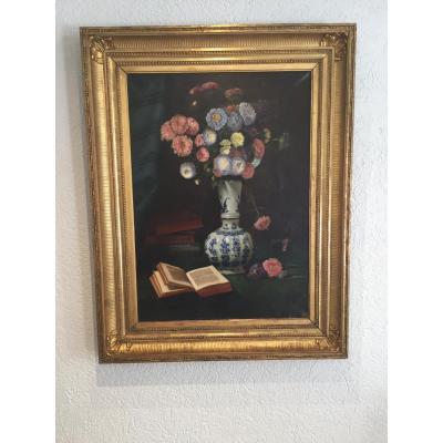 Bouquet De Dahlias Par Jules Caron