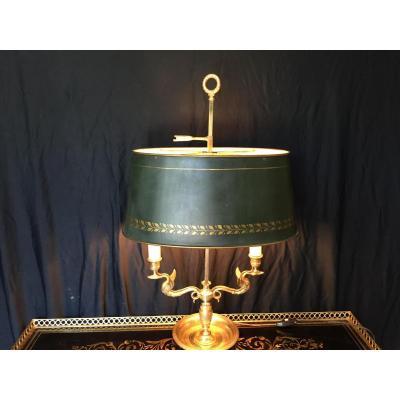 Lampe Bouillotte Ancienne En Bronze Doré