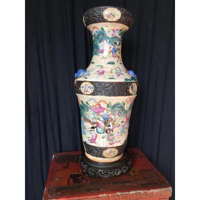 Vase Chinois  De Nankin 19eme