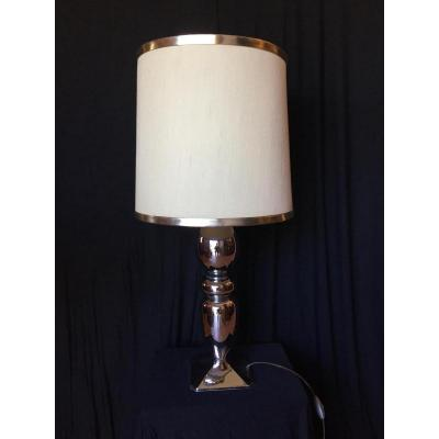 Lampe Métal Chromé Année 70