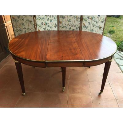 Table De Salle à Manger De Style Louis XVI En Acajou