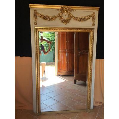 Trumeau De Style Louis XVI en bois doré