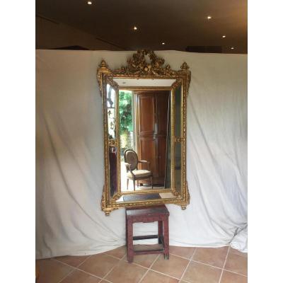 Miroir à Parecloses De Style Louis XVI