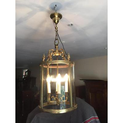 Lanterne De Vestibule En Bronze Massif XX Eme
