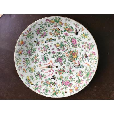 Grand Plat En Porcelaine De Chine 19eme