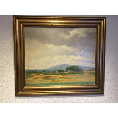 Landscape Of Var Signed Edmond Paul Auguste Barbarroux