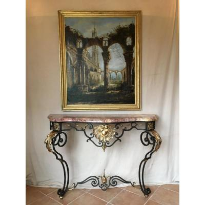 Wrought Iron Console In Taste Of XVllleme