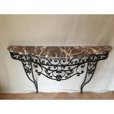 Wrought Iron Console Art Deco