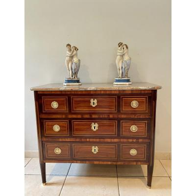 Commode Of Two Louis XVI Marquetry Of XVllleme