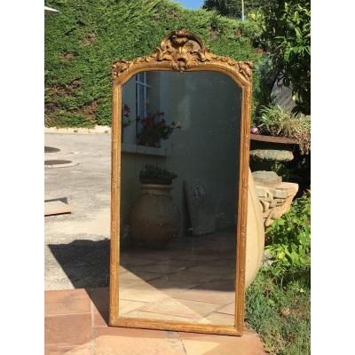 Miroir Louis XIV En Bois Doré