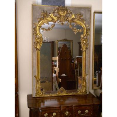 Miroir De Boiserie De Style Louis XIV
