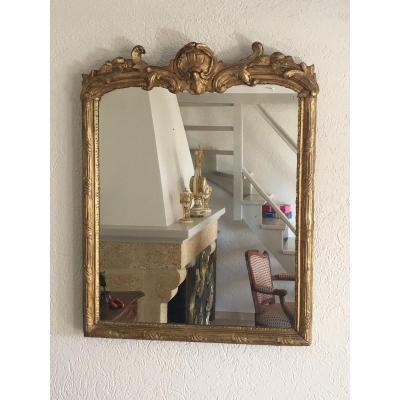 18th Century Mirror In Golden Wood