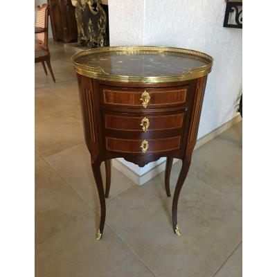 Table De Salon Ou Chevet De Forme Tambour Style Transition 19 Eme