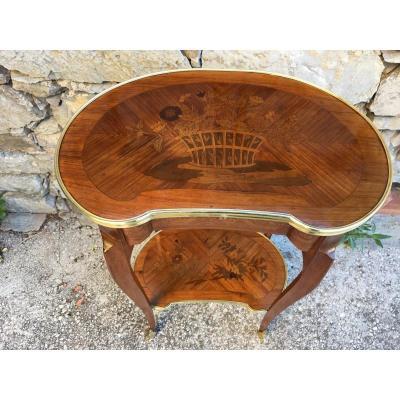 Petite Table De Salon En Marqueterie