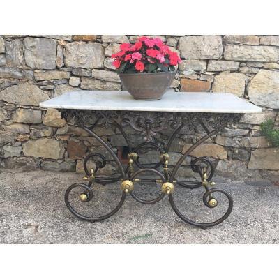 Ancienne Table De Boucher 19eme