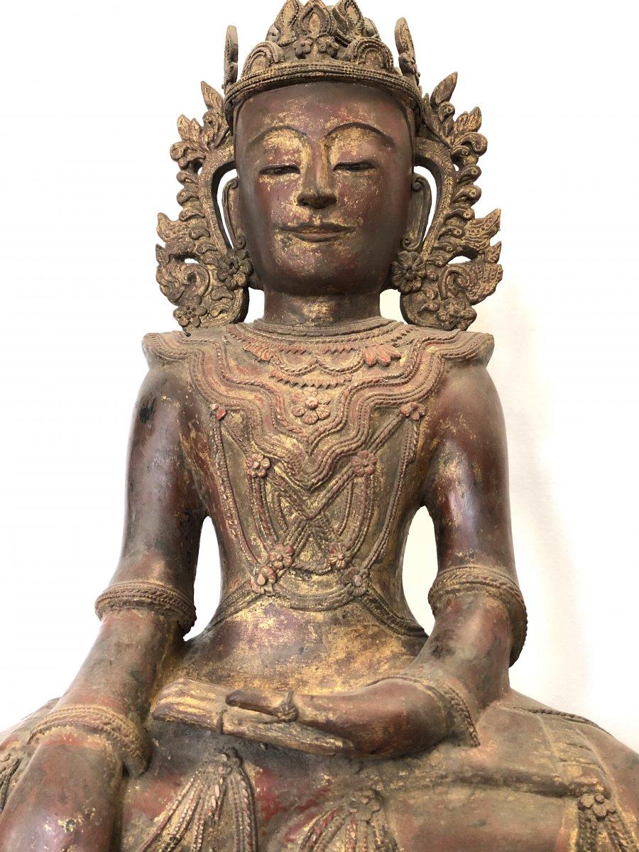King Bouddha Maravijaya , Province Shan , Birmanie ,   18 é Siecle -photo-3