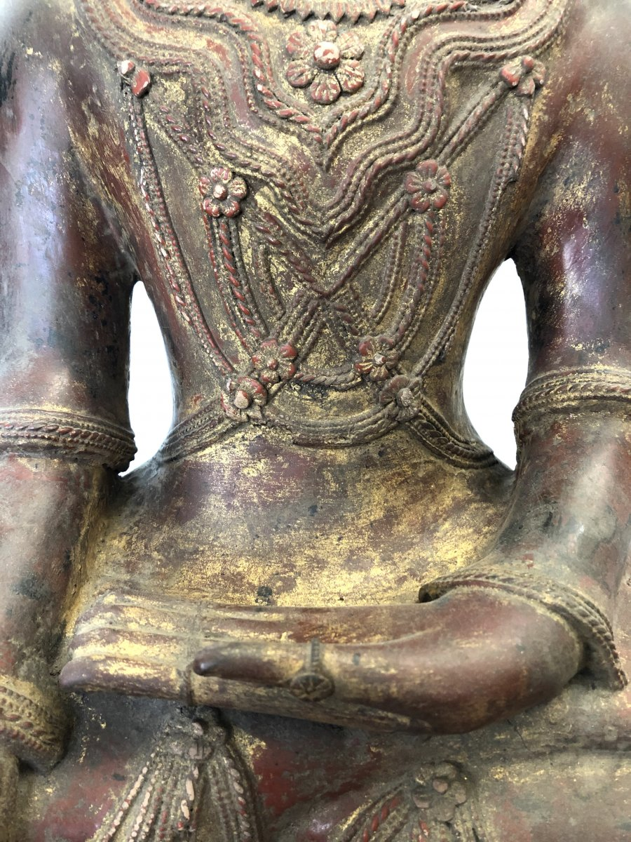 King Bouddha Maravijaya , Province Shan , Birmanie ,   18 é Siecle -photo-4