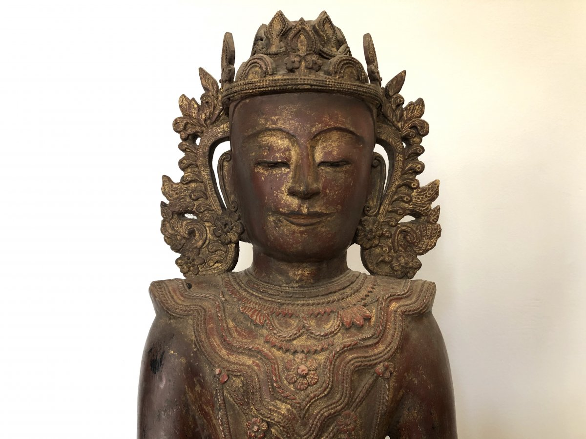 King Bouddha Maravijaya , Province Shan , Birmanie ,   18 é Siecle -photo-2