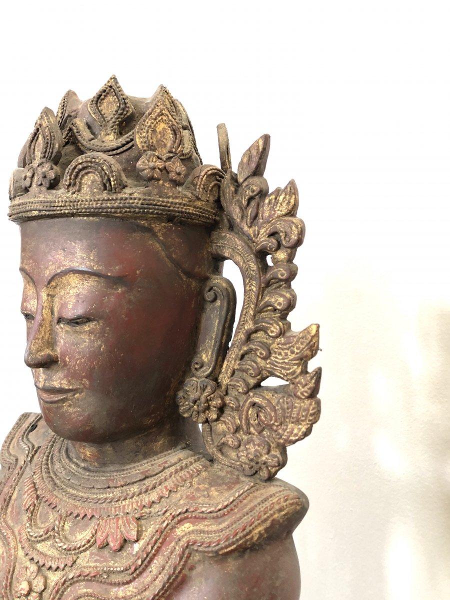 King Bouddha Maravijaya , Province Shan , Birmanie ,   18 é Siecle -photo-8