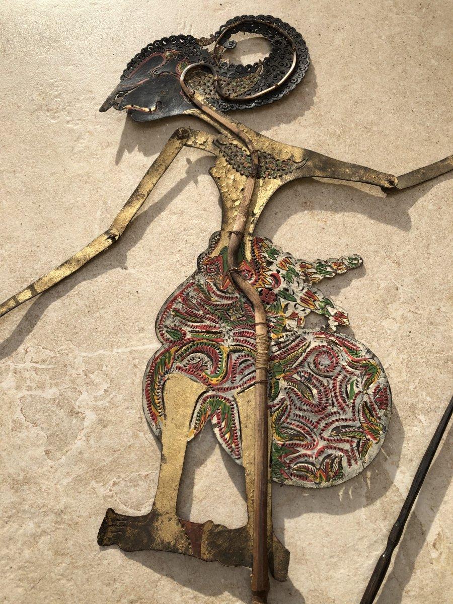 Theartre d'Ombre De Bali , Marionnette Cuir Decoupé Et Corne Buffle , Bali -photo-5