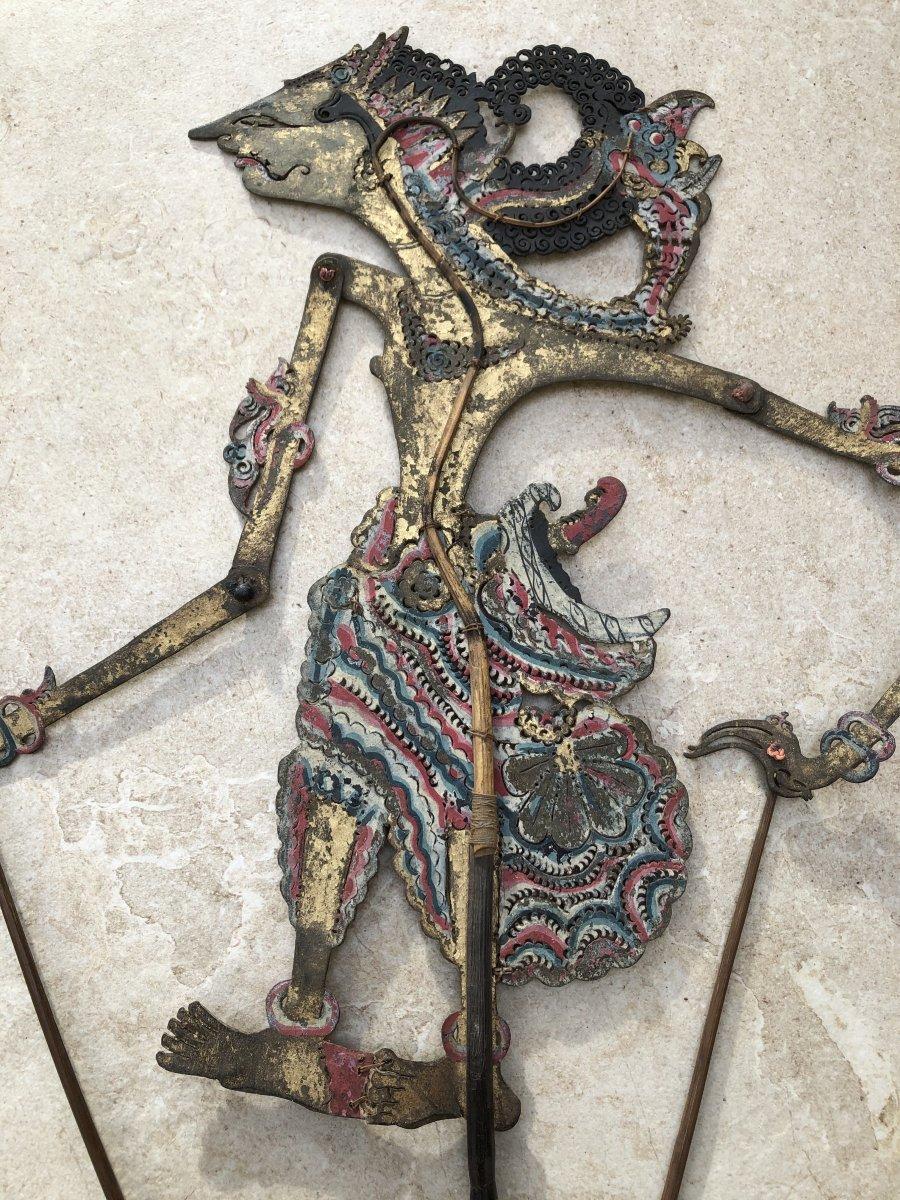 Theartre d'Ombre De Bali , Marionnette Cuir Decoupé , Bali Indonesie-photo-2