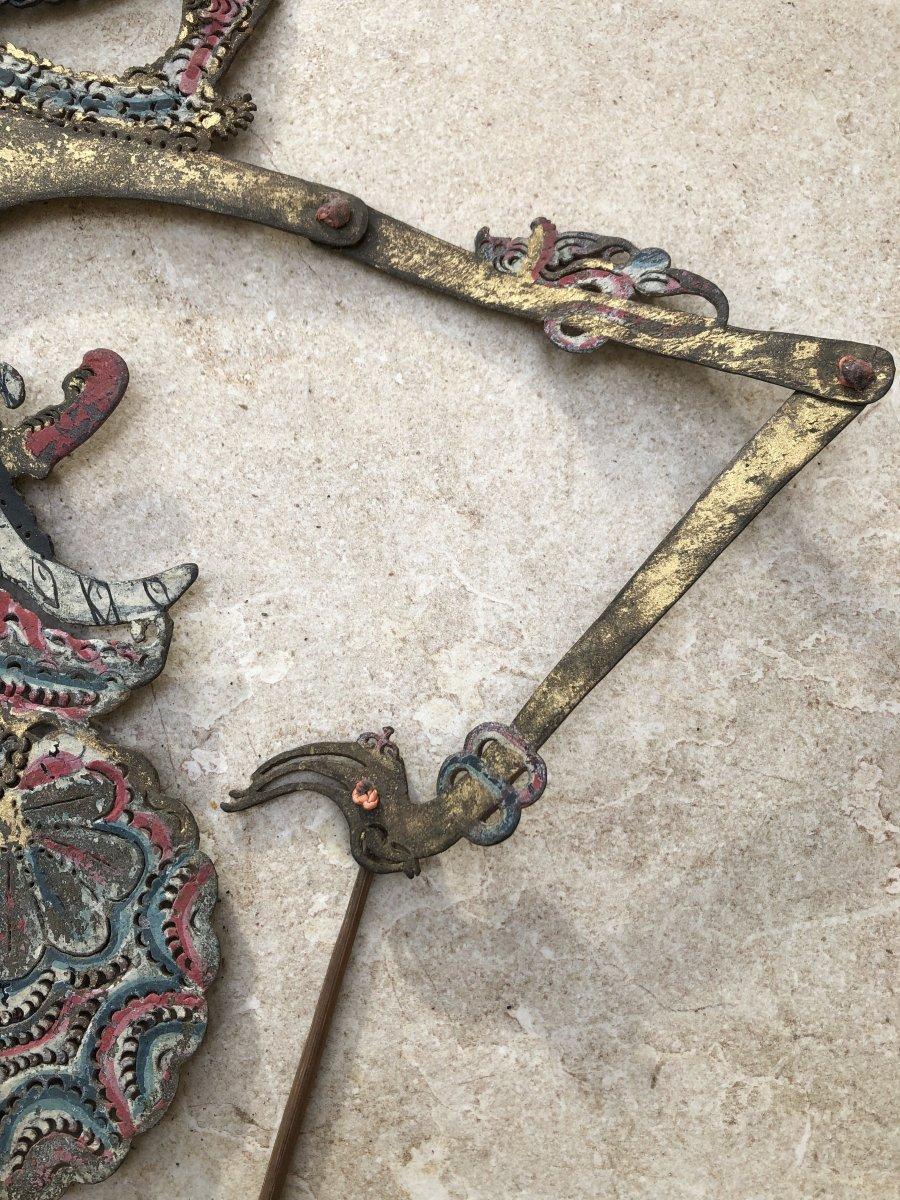 Theartre d'Ombre De Bali , Marionnette Cuir Decoupé , Bali Indonesie-photo-1
