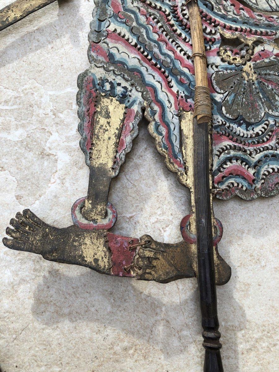 Theartre d'Ombre De Bali , Marionnette Cuir Decoupé , Bali Indonesie-photo-3