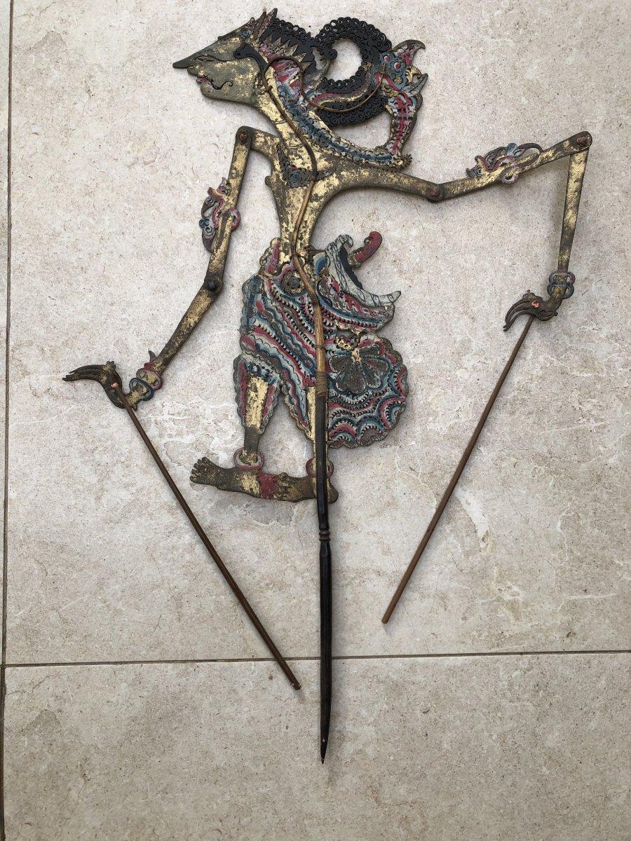 Theartre d'Ombre De Bali , Marionnette Cuir Decoupé , Bali Indonesie-photo-5