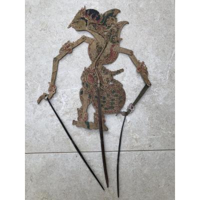 Theartre d'Ombre De Bali , Marionnette Cuir Decoupé , Bali Indonesie
