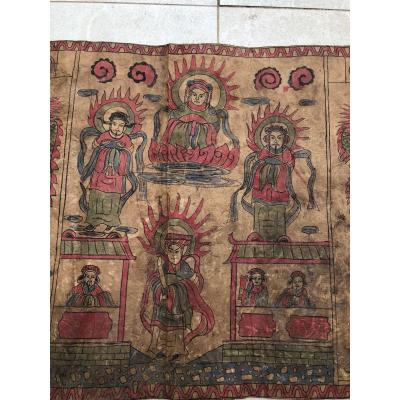 Long Roll Yao Ritual Painting On Burma Murier Paper