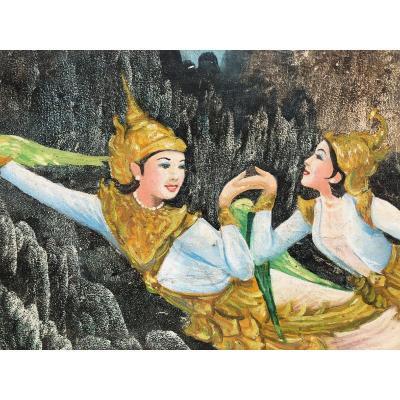 Peinture traditionelle  Birmanie