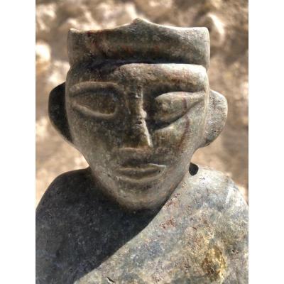 Personnage anthropomorphe Jade piece de fouille  Birmanie